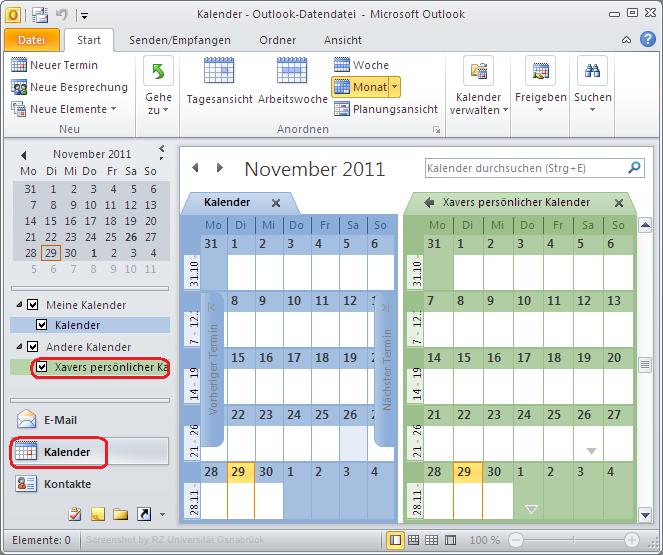 Hinweis: Ermitteln der WebDAV URL eines SOGo Kalenders