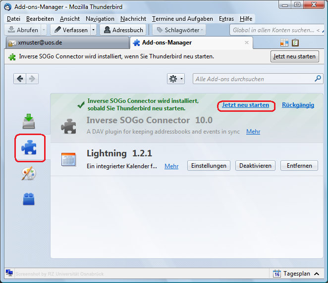 how to add addon in thunderbird
