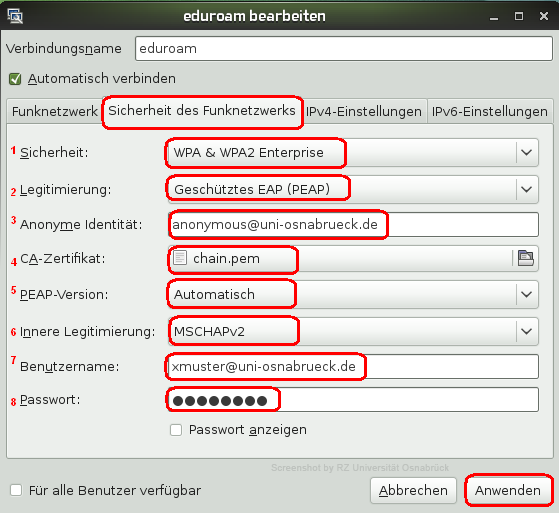 einrichten anmelden am eduroam wlan unter opensuse 11 3. Black Bedroom Furniture Sets. Home Design Ideas