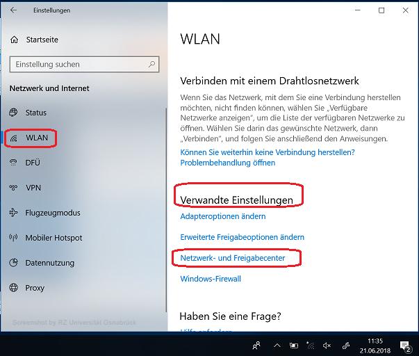 Einrichten/Anmelden am eduroam-WLAN unter Windows 9