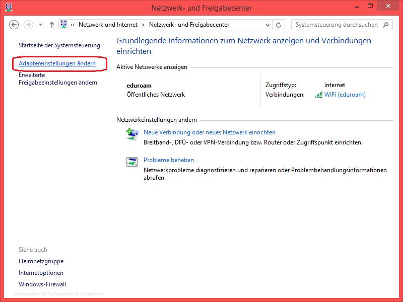 Einrichtenanmelden Am Eduroam Wlan Unter Windows 81