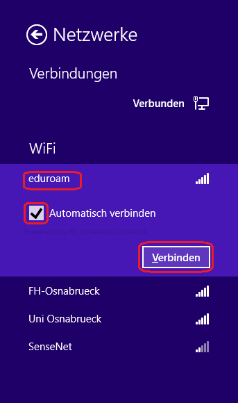 einrichten anmelden am eduroam wlan unter windows 8. Black Bedroom Furniture Sets. Home Design Ideas